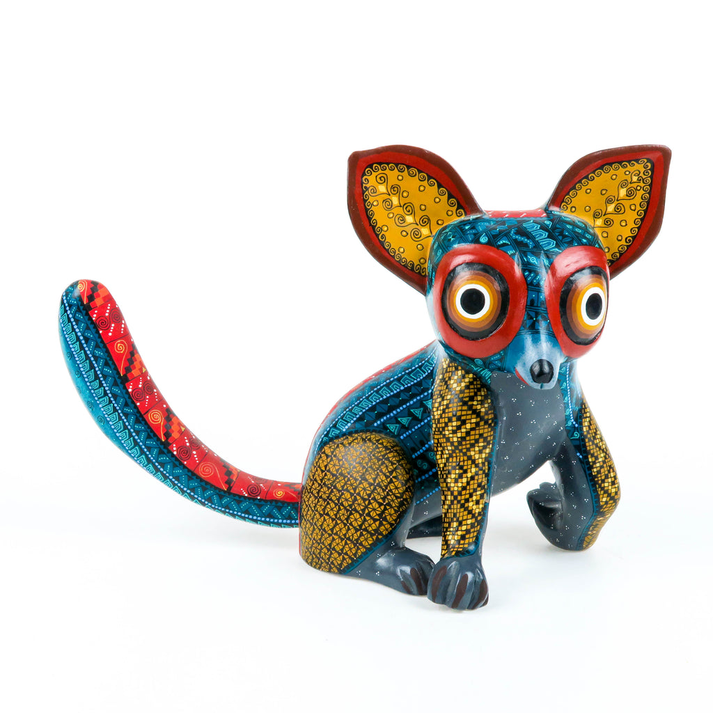 Zapotec Lemur - Oaxacan Alebrije Wood Carving