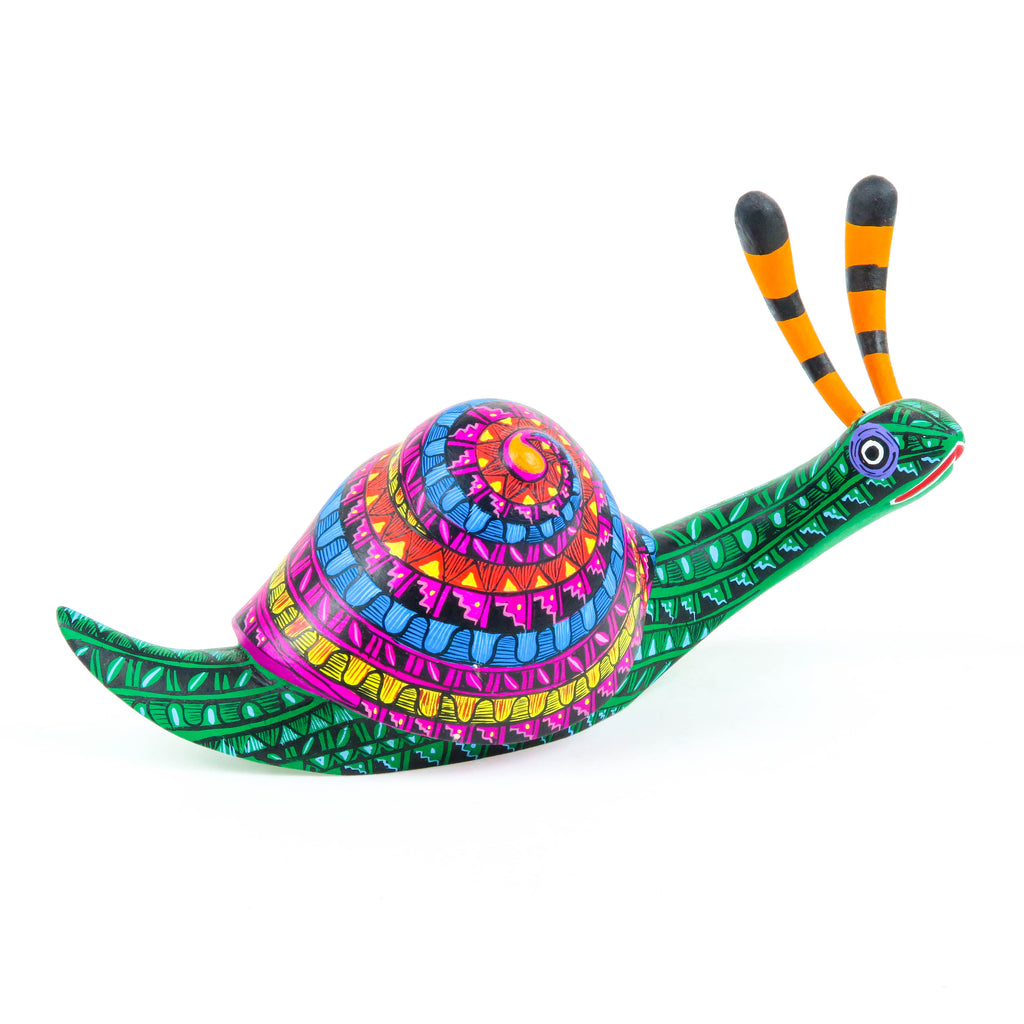 Zapotec Snail - Oaxacan Alebrije Wood Carving