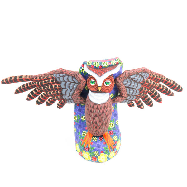 Large Owl - Oaxacan Alebrije Wood Carving - Eleazar Morales