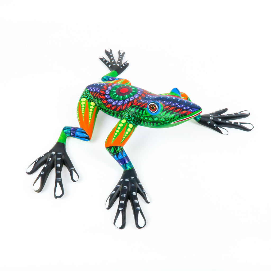 Zapotec Frog - Oaxacan Alebrije Wood Carving