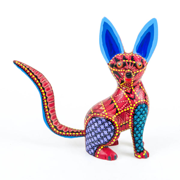 Inquisitive Fox - Oaxacan Alebrije Wood Carving