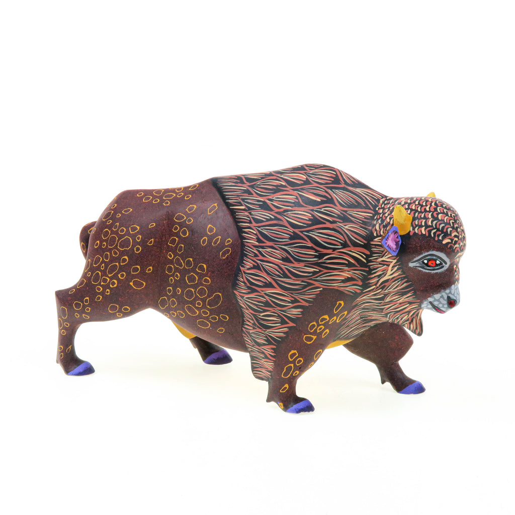 Bison - Oaxacan Alebrije Wood Carving - Eleazar Morales