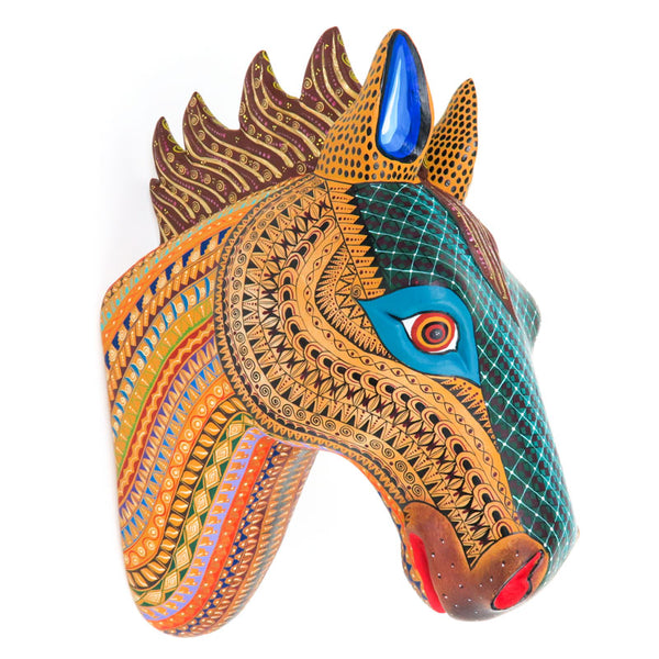 Beautiful Horse Head - Oaxacan Alebrije Wood Carving - VivaMexico.com