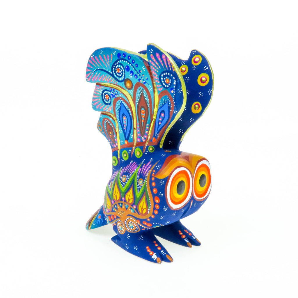 Blue Owl - Oaxacan Alebrije Wood Carving