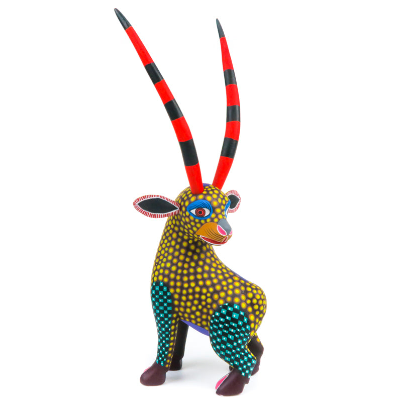 Shy Gazelle - Oaxacan Alebrije Wood Carving