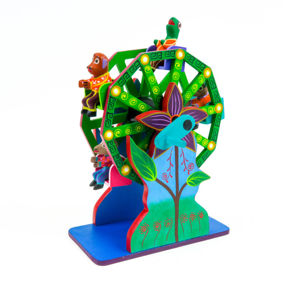 Animal Ferris Wheel - Oaxacan Alebrije Wood Carving