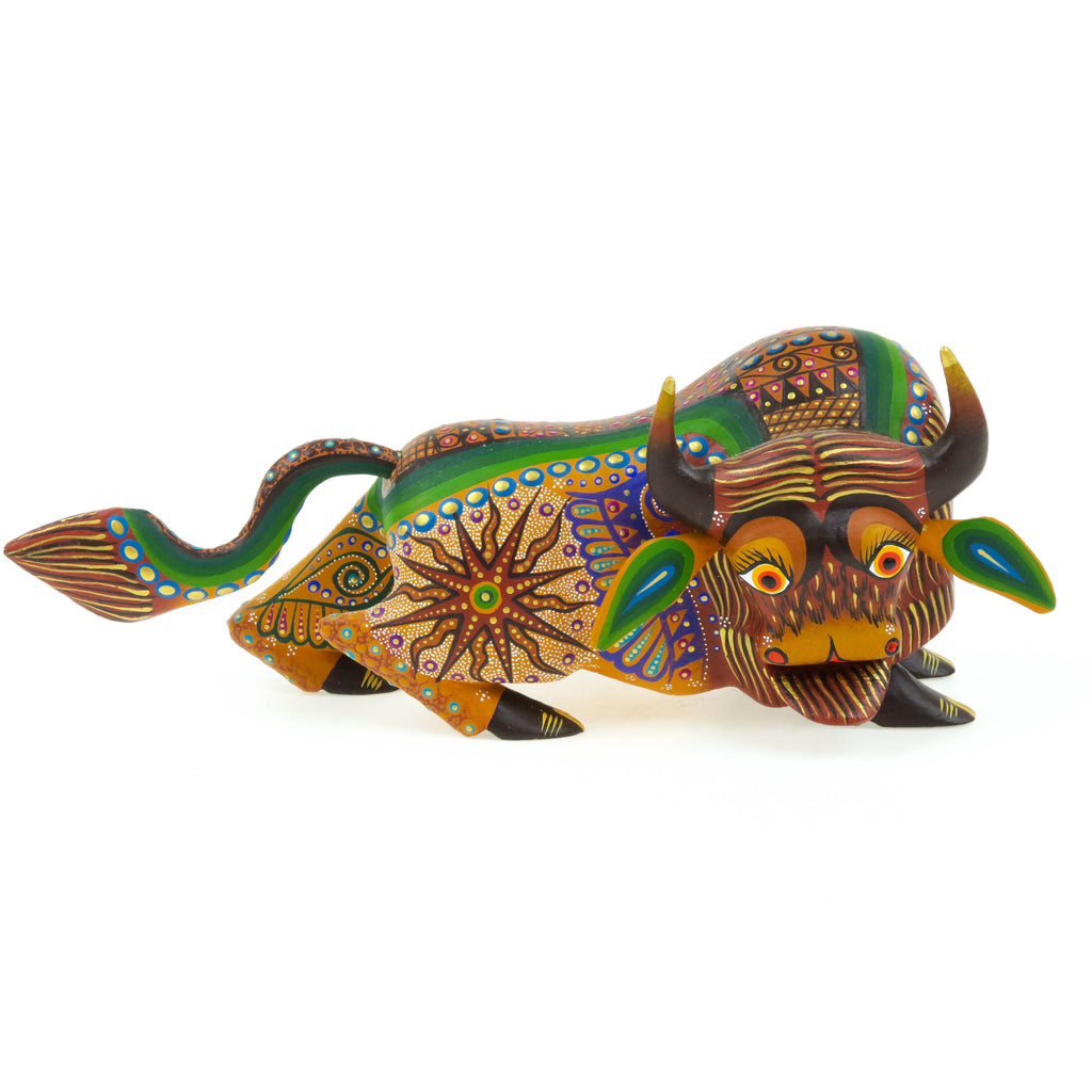 Brown Bull - Oaxacan Alebrije Wood Carving