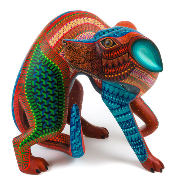 Turning Dog - Oaxacan Alebrije Wood Carving - Nestor Melchor