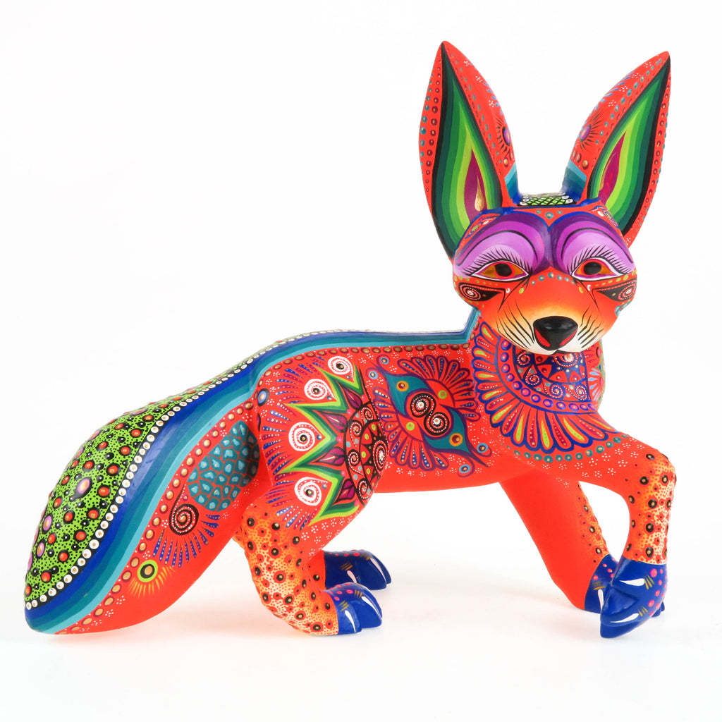 Vibrant Fox - Oaxacan Alebrije Wood Carving