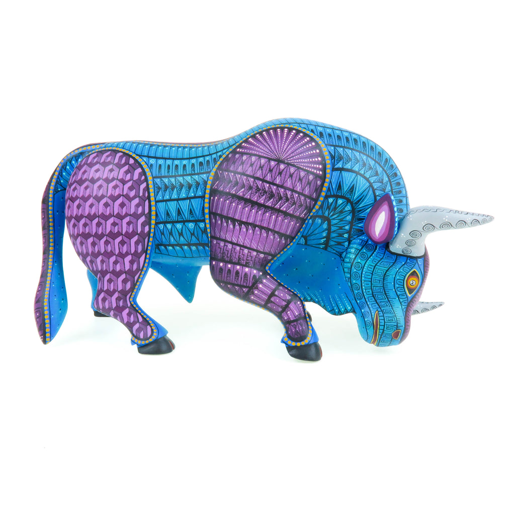 Charging Bull Masterpiece Oaxacan Alebrije Wood Carving