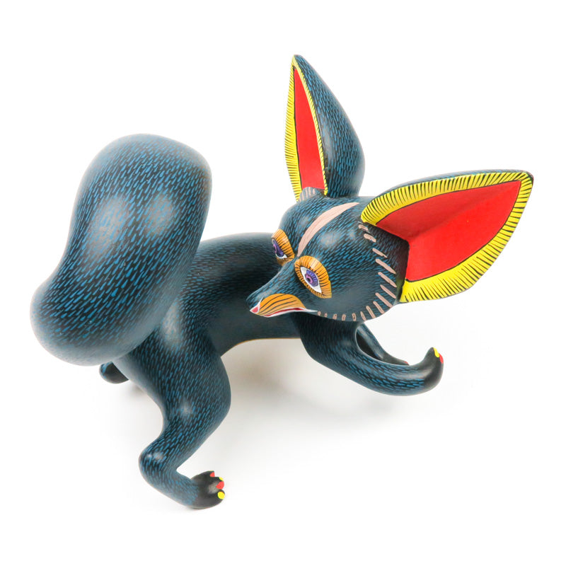 Turning Fox - Oaxacan Alebrije Wood Carving - VivaMexico.com