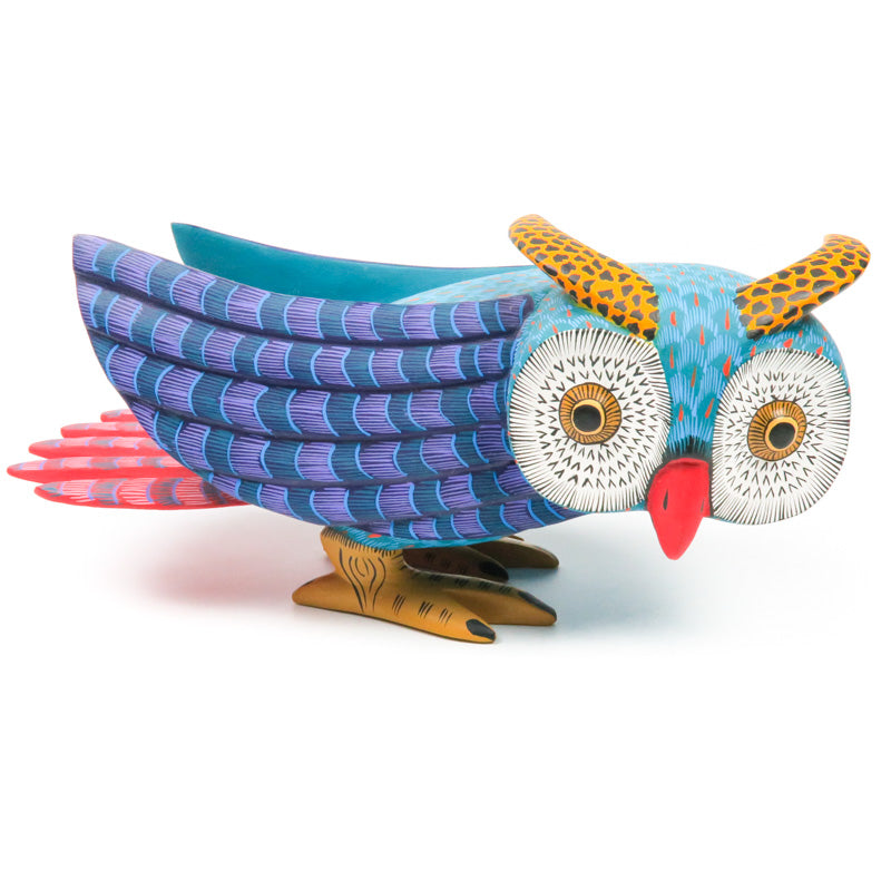 Beautiful Owl - Oaxacan Alebrije Wood Carving - VivaMexico.com