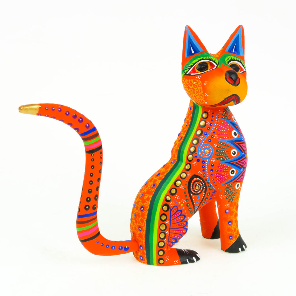 Fabulous Cat - Oaxacan Alebrije Wood Carving