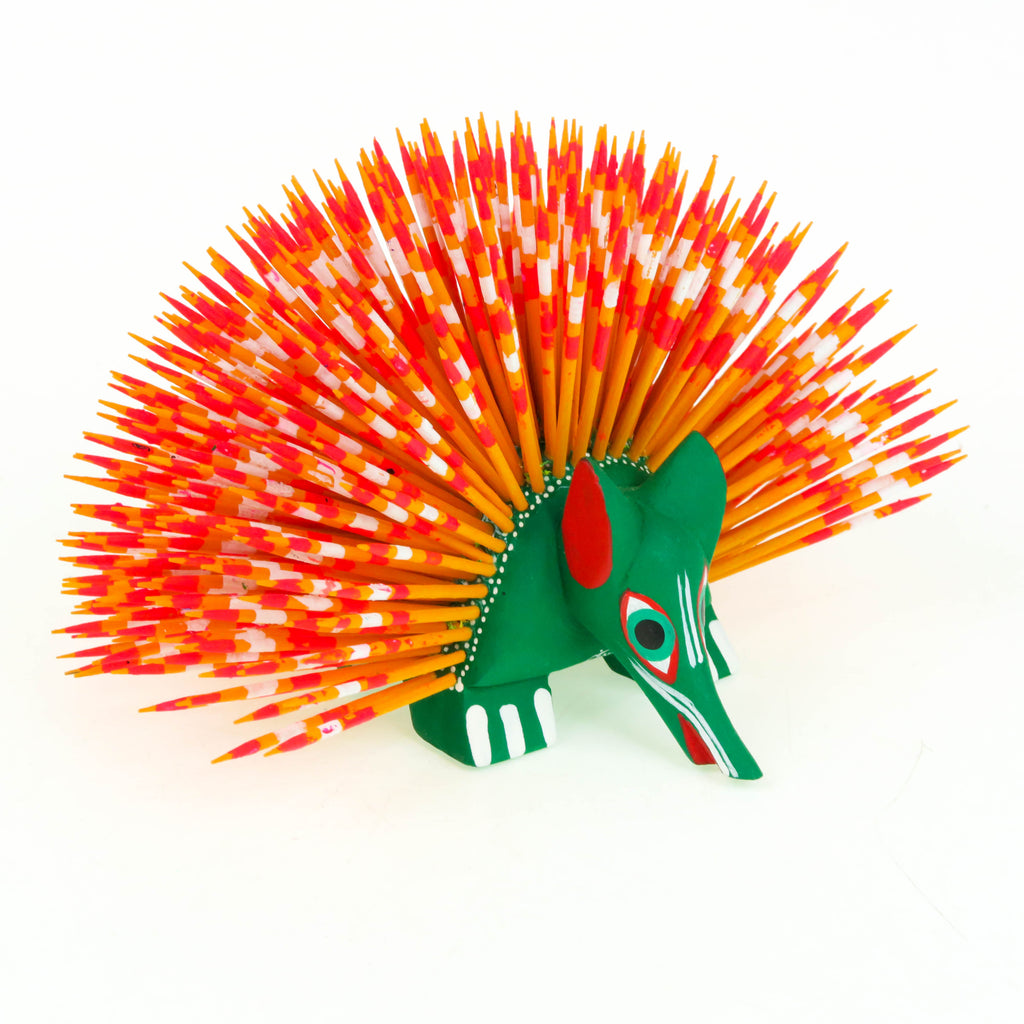 Gorgeous Porcupine - Oaxacan Alebrije Wood Carving
