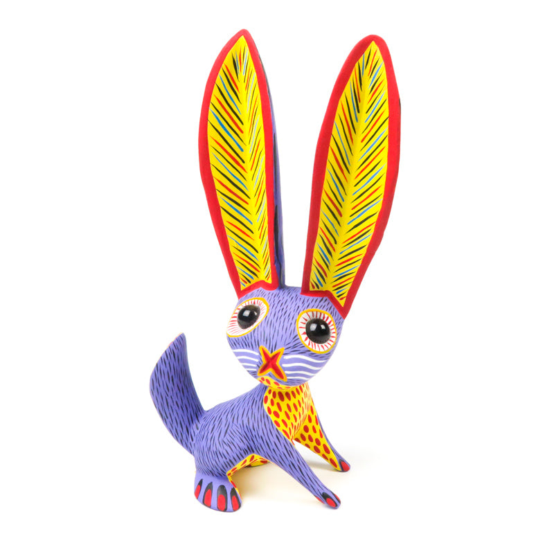 Purple Rabbit - Oaxacan Alebrije Wood Carving - VivaMexico.com