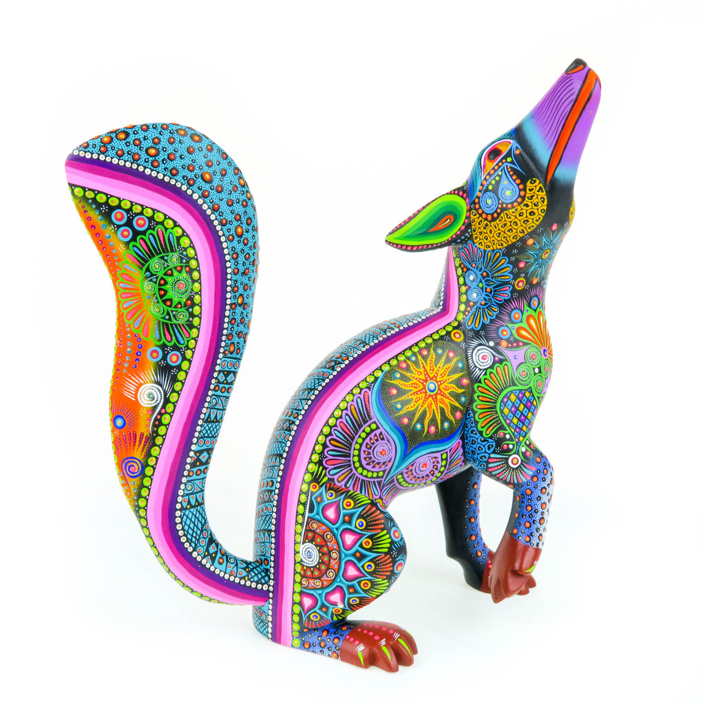 Masterpiece Howling Coyote - Oaxacan Alebrije Wood Carving