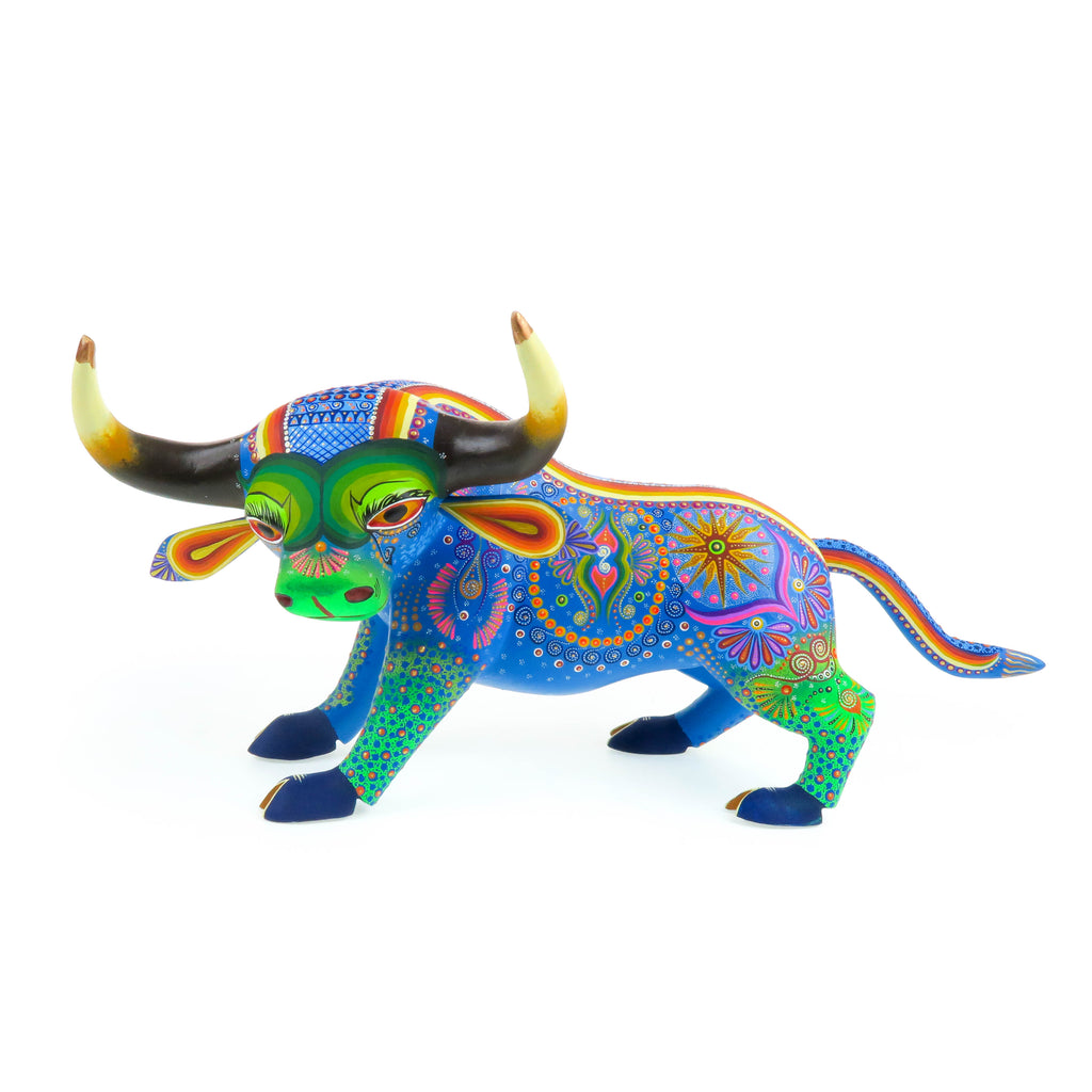 Large Fantastic Bull - Oaxacan Alebrije Wood Carving