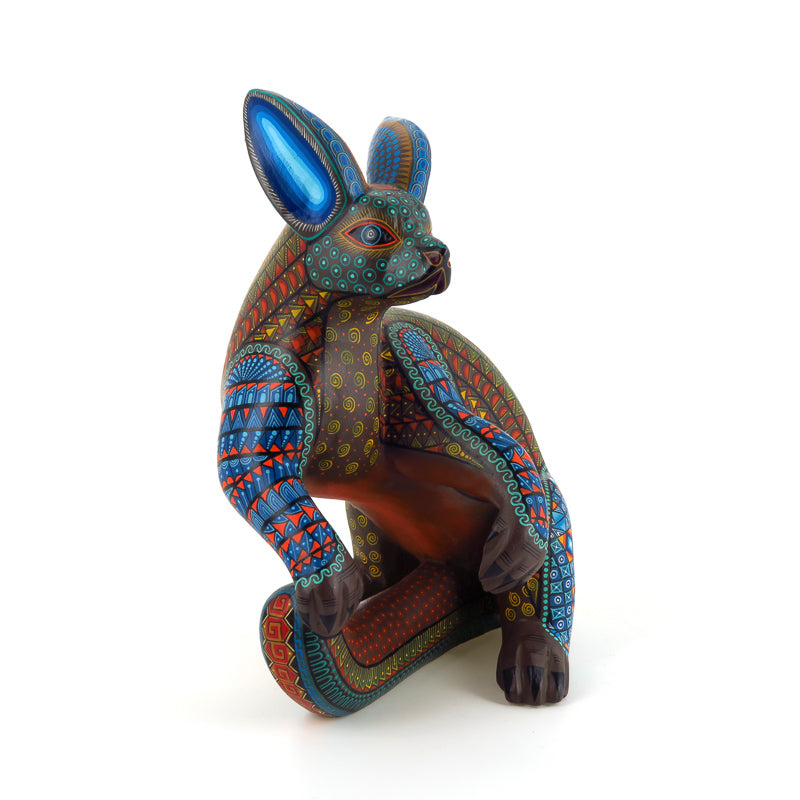 Magnificent Dog - Oaxacan Alebrije Wood Carving - VivaMexico.com