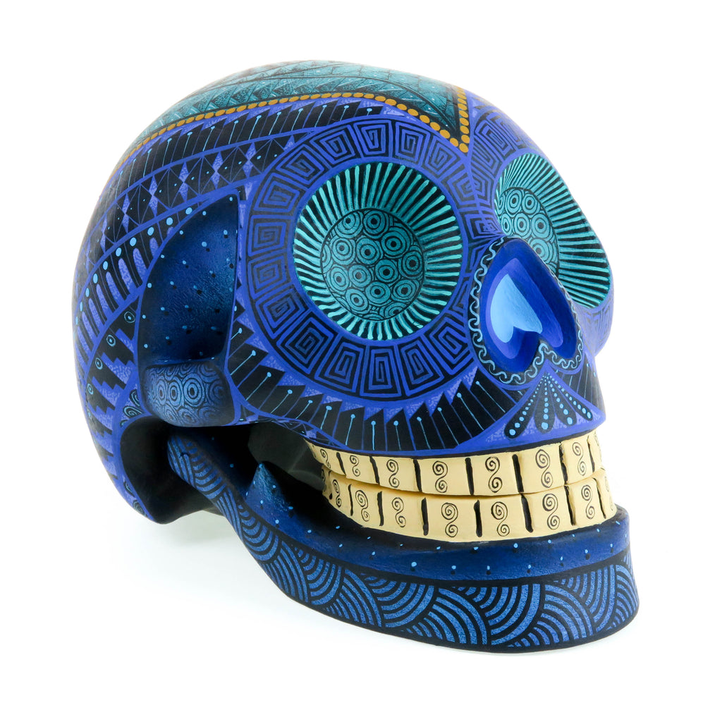 Day of The Dead Skull - Oaxacan Alebrije Wood Carving