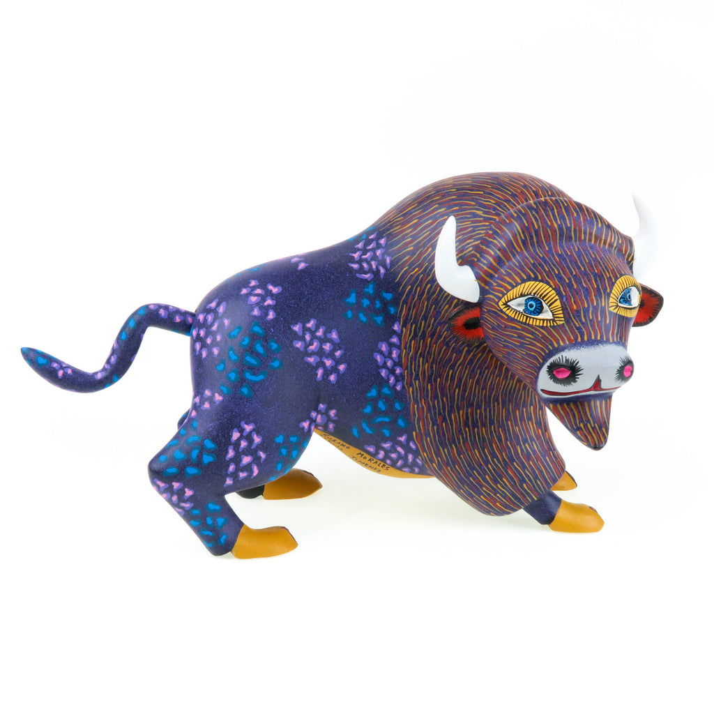 Beautiful Bull - Oaxacan Alebrije Wood Carving
