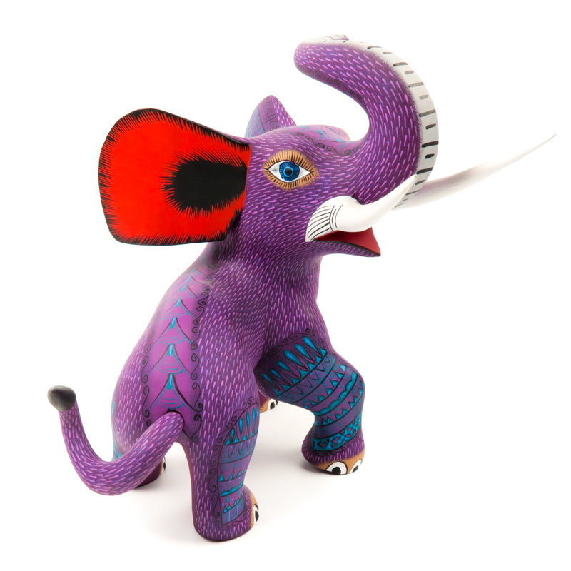 Fierce Elephant - Oaxacan Alebrije Wood Carving - VivaMexico.com