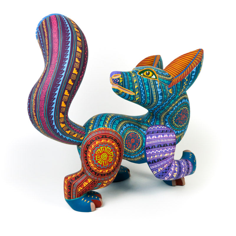 Large Zapotec Fox - Oaxacan Alebrije Wood Carving