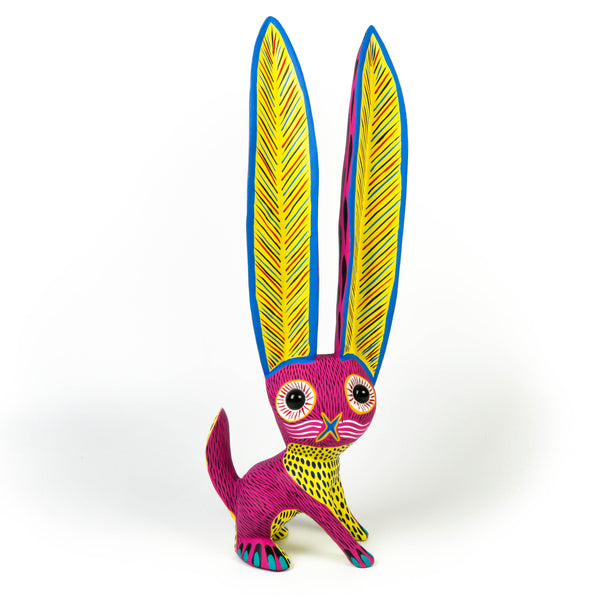 Marble Eyed Rabbit - Oaxacan Alebrije Wood Carving Sculpture - Arsenio Morales - VivaMexico.com