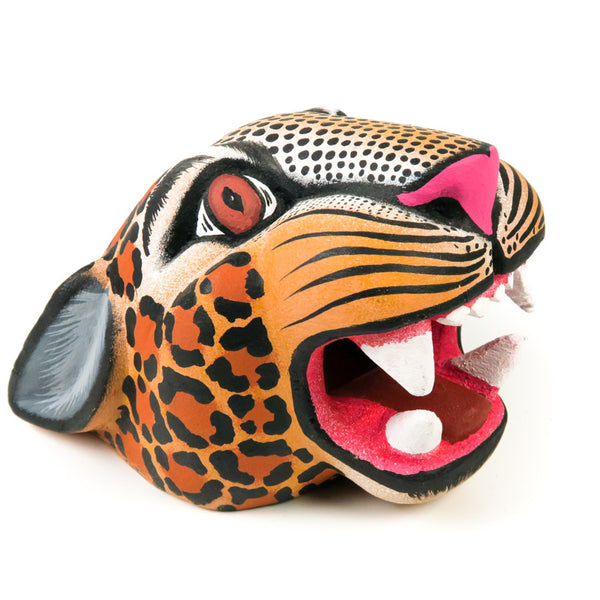 Jaguar Head - Oaxacan Alebrije Wood Carving