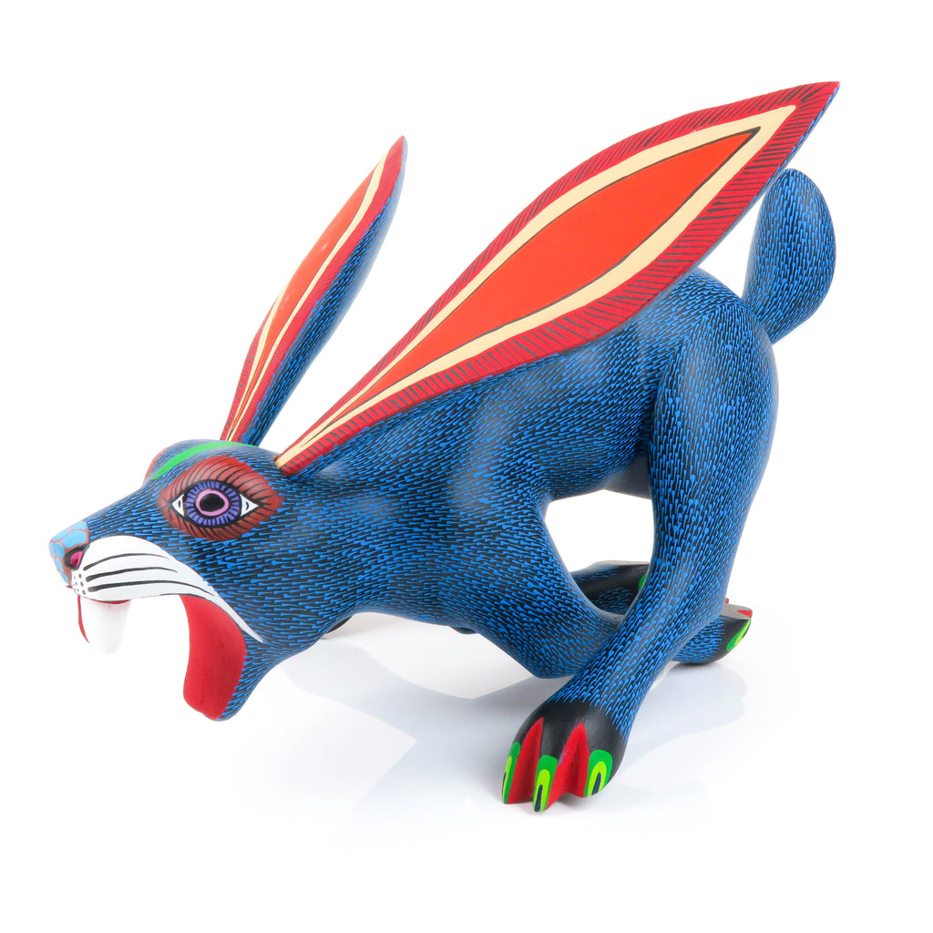 Running Rabbit - Oaxacan Alebrije Wood Carving