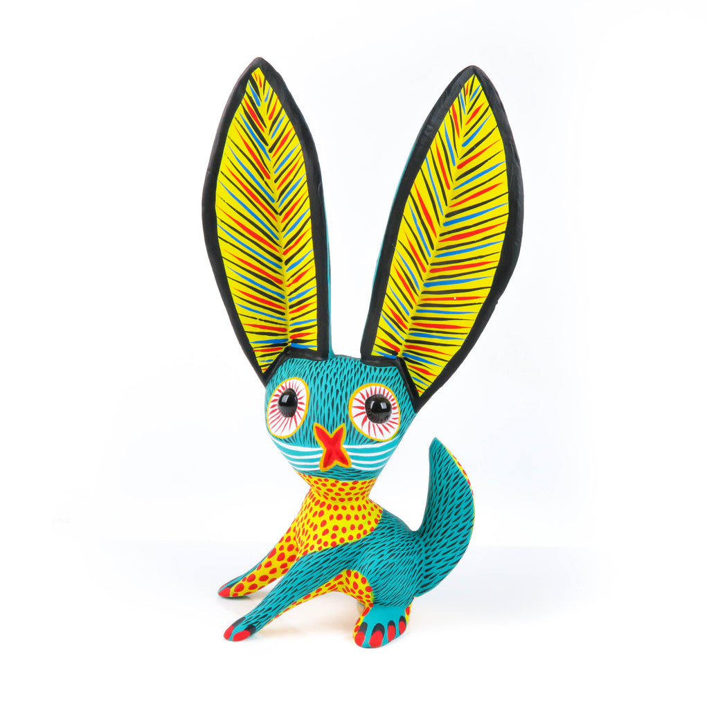 Marble Eyed Rabbit - Oaxacan Alebrije Wood Carving