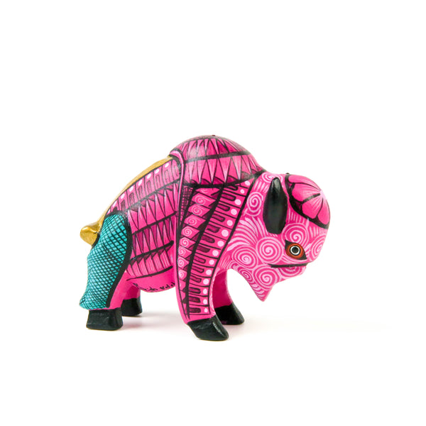 Mini Buffalo - Oaxacan Alebrije Wood Carving