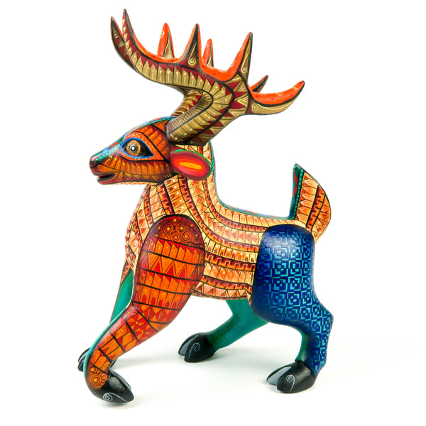 Cheerful Deer - Oaxacan Alebrije Wood Carving