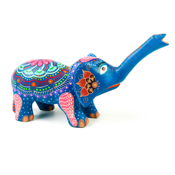 Colorful Elephant - Oaxacan Alebrije Wood Carving