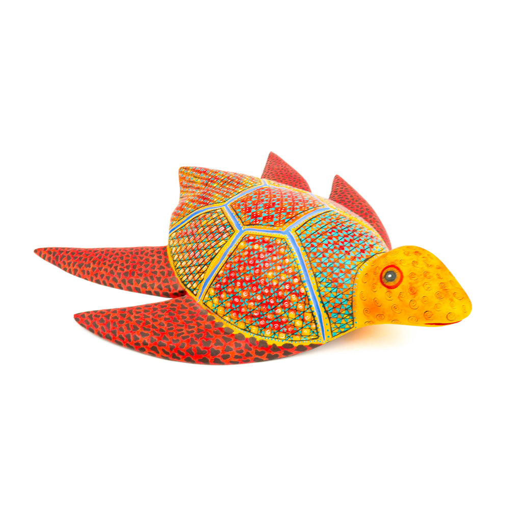 Sea Turtle - Oaxacan Alebrije Wood Carving - VivaMexico.com