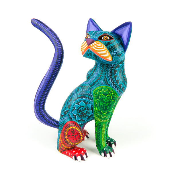 Tall Cat - Oaxacan Alebrije Wood Carving