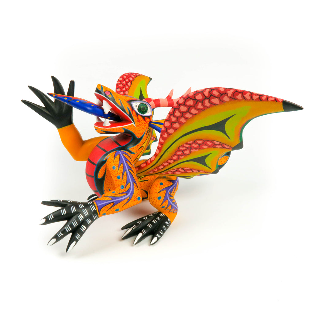 Fantastic Dragon - Oaxacan Alebrije Wood Carving - VivaMexico.com
