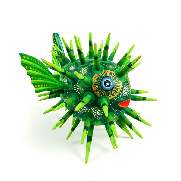 Puffer Fish - Oaxacan Alebrije Wood Carving