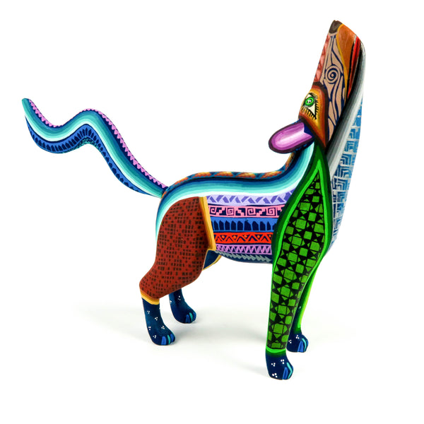 Majestic Coyote - Oaxacan Alebrije Wood Carving