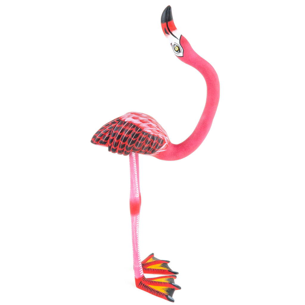 Flamingo - Oaxacan Alebrije Wood Carving