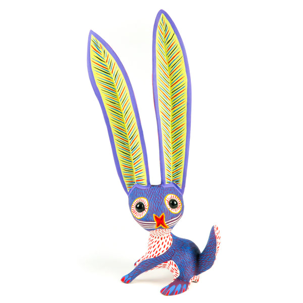 Purple Rabbit - Oaxacan Alebrije Wood Carving
