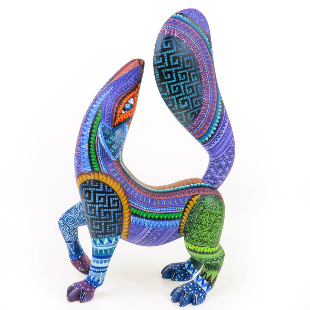 Beautiful Howling Coyote - Oaxacan Alebrije Wood Carving