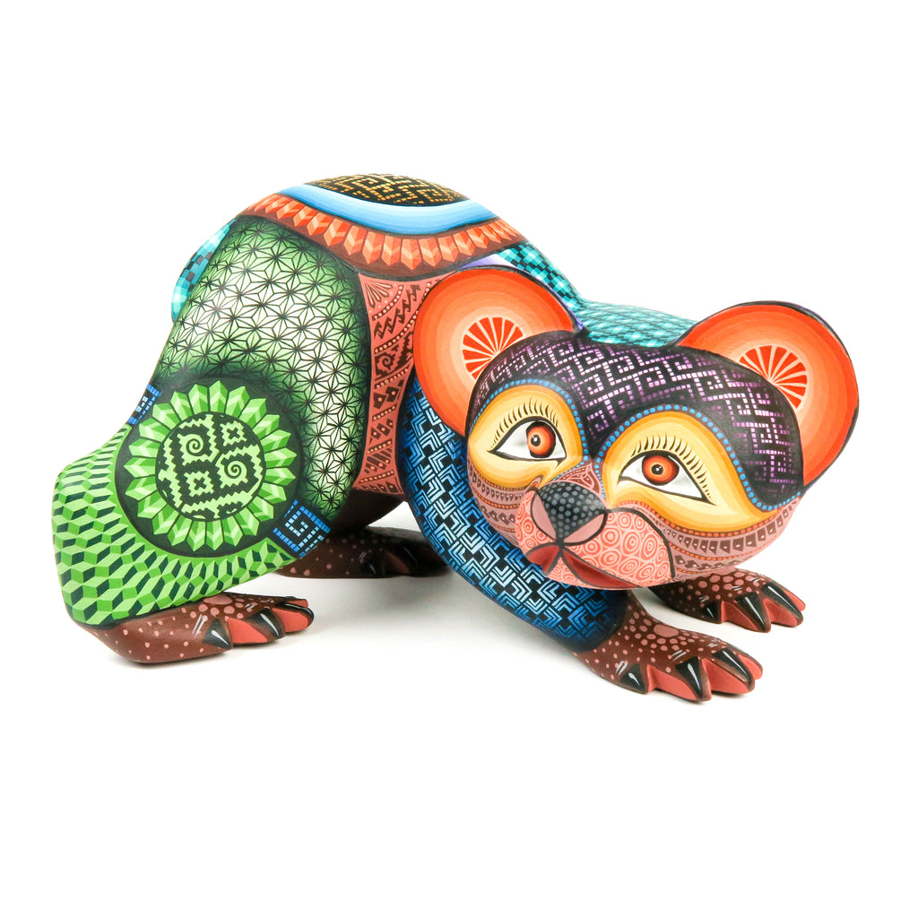 Beautiful Bear - Oaxacan Alebrije Wood Carving - Jose Calvo & Magaly Fuentes - VivaMexico.com