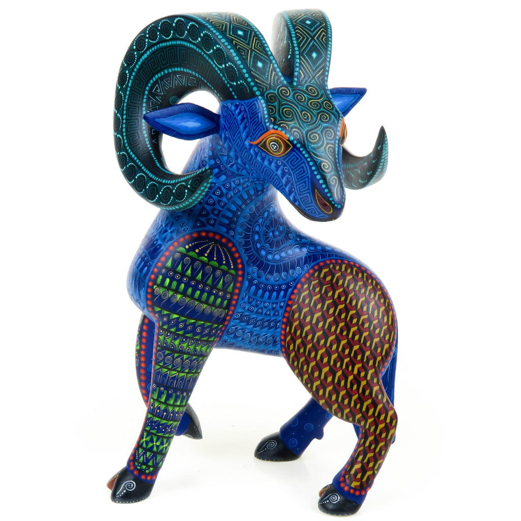 Beautiful Ram - Oaxacan Alebrije Wood Carving