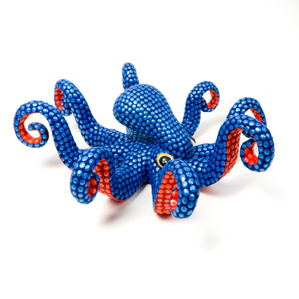 Blue Octopus - Oaxacan Alebrije Wood Carving