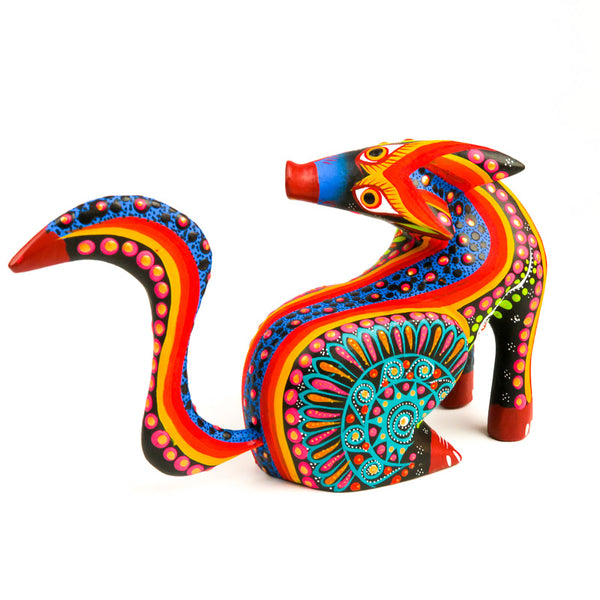 Turning Coyote - Oaxacan Alebrije Wood Carving - VivaMexico.com
