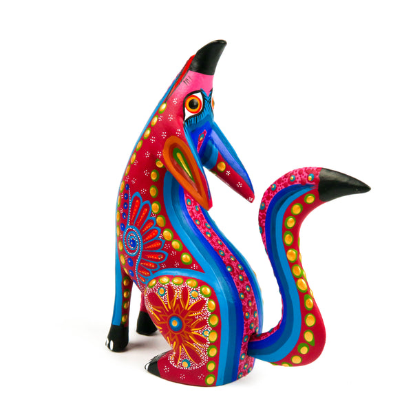 Howling Coyote - Oaxacan Alebrije Wood Carving - VivaMexico.com