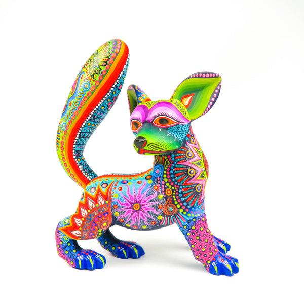 Fox - Oaxacan Alebrije Wood Carving - VivaMexico.com