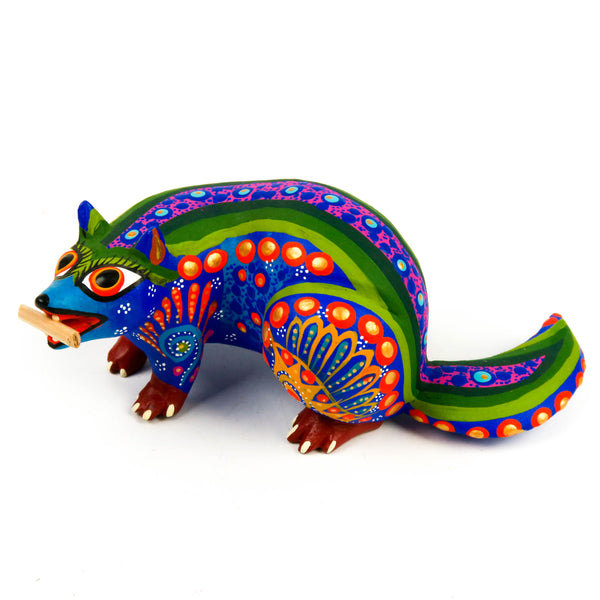 Blue Beaver - Oaxacan Alebrije Wood Carving