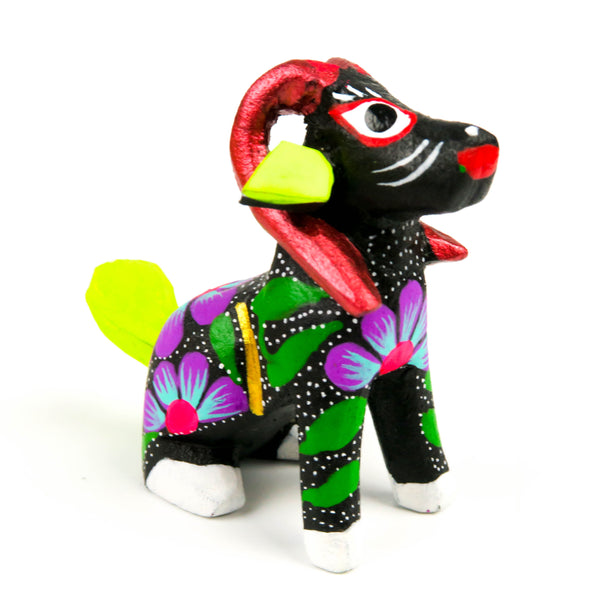 Ram Mini Oaxacan Alebrije Wood Carving Mexican Folk Art Sculpture