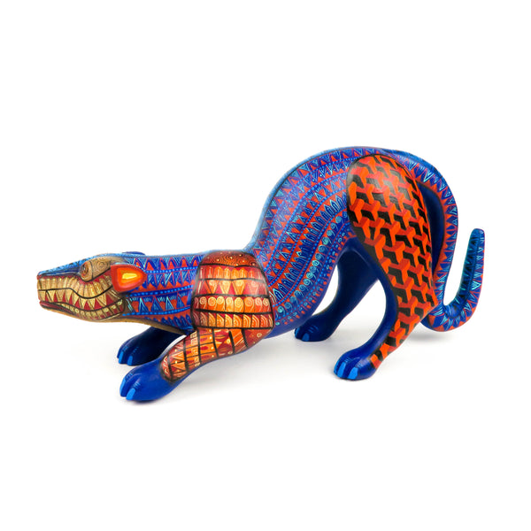 Pouncing Jaguar - Oaxacan Alebrije Wood Carving